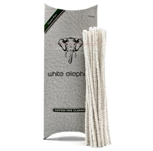WHITE ELEPHANT Pfeifenreiniger Baumwolle weiss